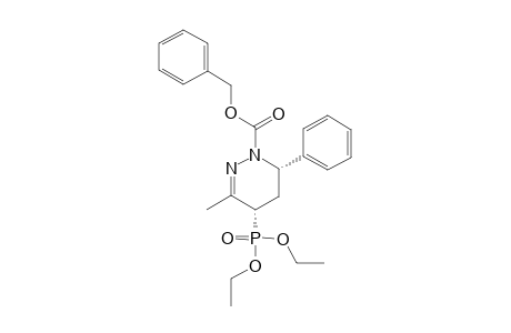 BENZYL-(+/-)-(4S*,6S*)-4-(DIETHOXYPHOSPHORYL)-3-METHYL-6-PHENYL-5,6-DIHYDRO-4H-PYRIDAZINE-1-CARBOXYLATE