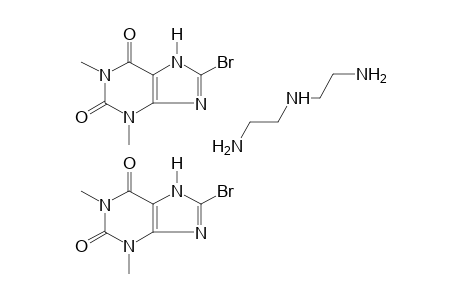 8-BROMOTHEOPHYLLINE, COMPOUND WITH DIETHYLENETRIAMINE (2:1)